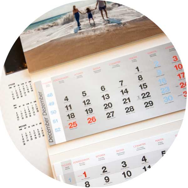 kalendarz z twoim zdjęciem trójdzielny